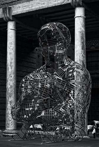 architecture gray metal human decor building