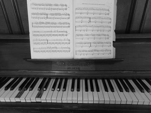 music gray wooden upright piano grey