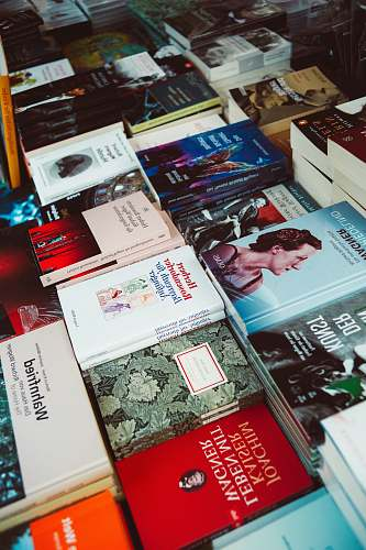 furniture pile of assorted-title books bayreuth festival theatre