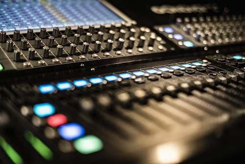 electronics black stereo mixer dj