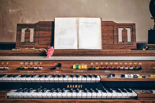 electronics brown Yamaha 2-tier piano music