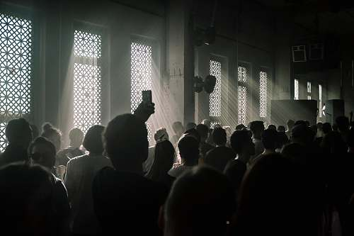 moscow people standing inside dark room russia