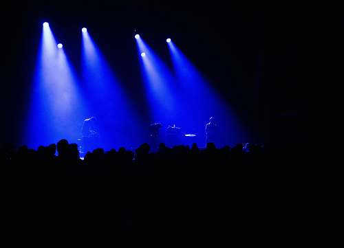 lighting person performing stage stage