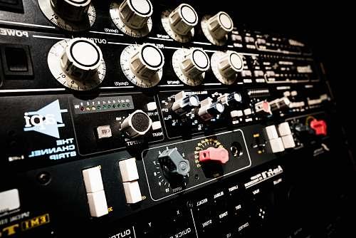 game black audio equalizer sound