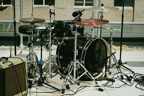music black music drum set musical instrument