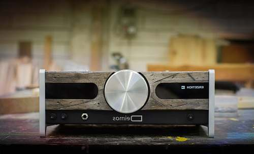 wood gray and black amplifier plywood