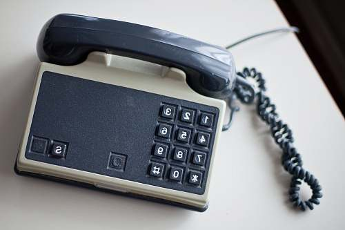 phone grey and white home telephone la panne