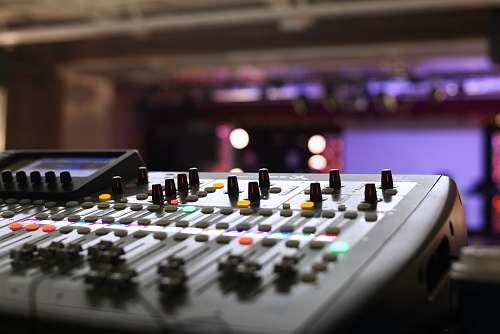delton closeup photography of gray audio mixer united states