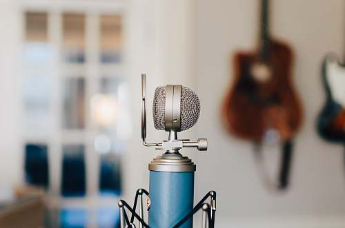 microphone black and gray condenser microphone recording