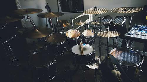 drum black and white drum set leisure activities