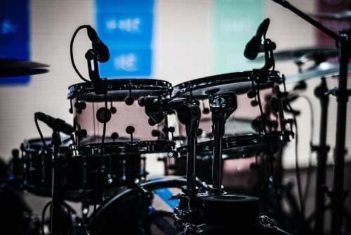 drum black drum set shallow focus photography musical instrument