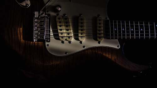 guitar brown and white electric guitar electric guitar