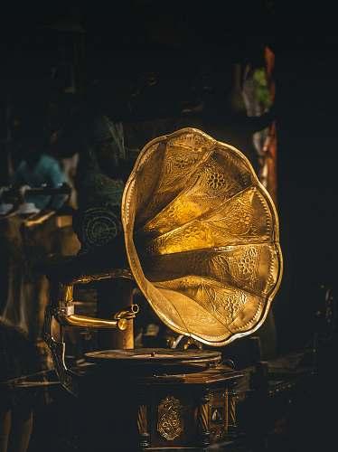 kochi closeup photo of gramophone gold