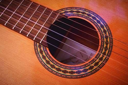 guitar closeup photography of brown acoustic guitar spain