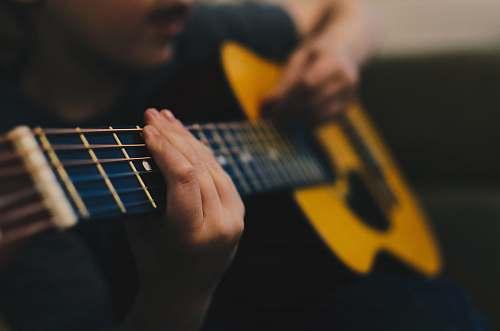 guitar man sitting white playing guitar electric guitar