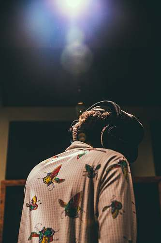 headphone person wearing headphones rockstar
