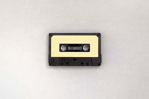 cassette photo of black and brown cassette tape retro