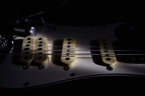 guitar silver guitar strings electric guitar