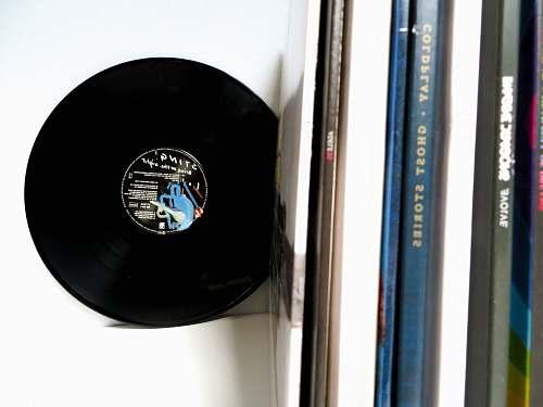 vinyl vinyl record on white desk lp