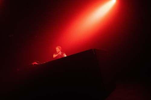 lighting man on stage spotlight