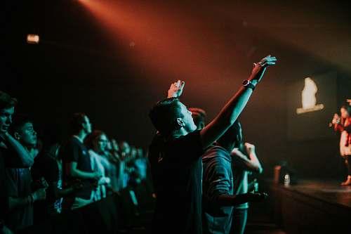 worship people beside stage audience
