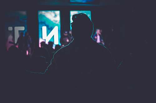human silhouette of people inside room people