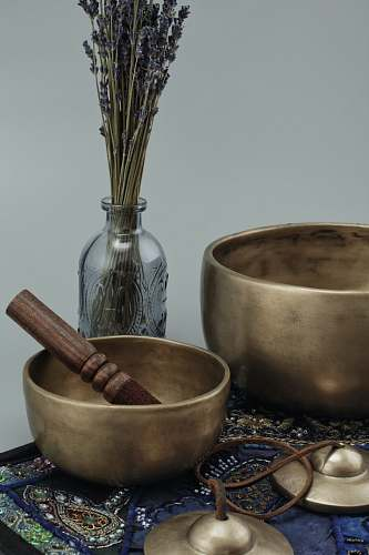 bowl brown wooden mortar and pestle bronze