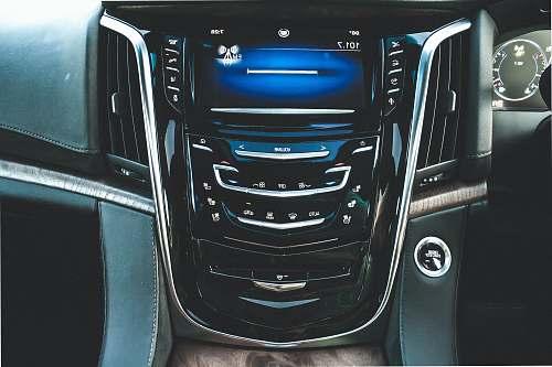 car black 2-DIN head unit interior