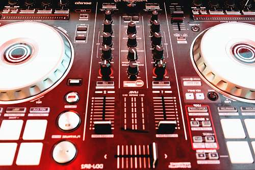 electronics red audio mixer dj