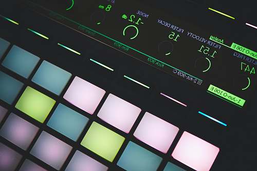 calendar closeup photo of turned on digital midi controller text