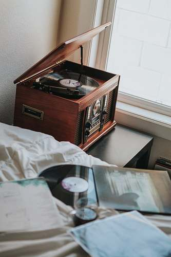 home brown wooden radiogram music