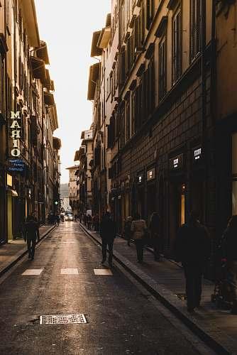 road people walking on street during daytime city