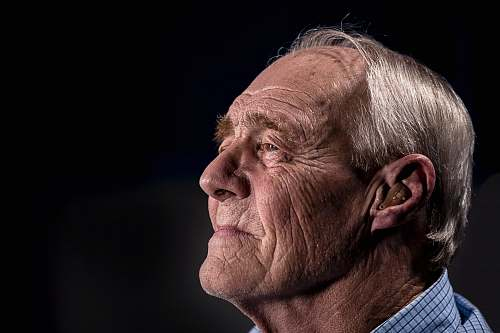 person side view of man's face face
