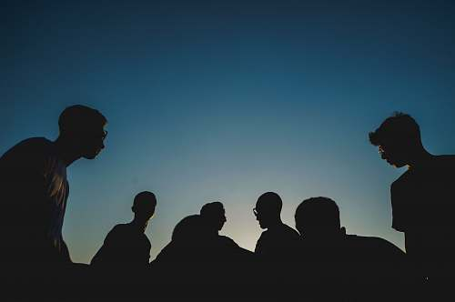 human silhouette photo of people silhouette