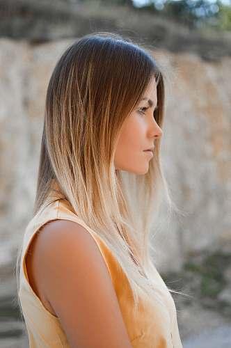 girl women's brown sleeveless shirt woman