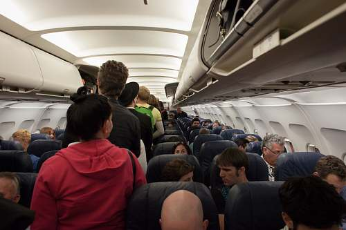 people group of people in airliner human