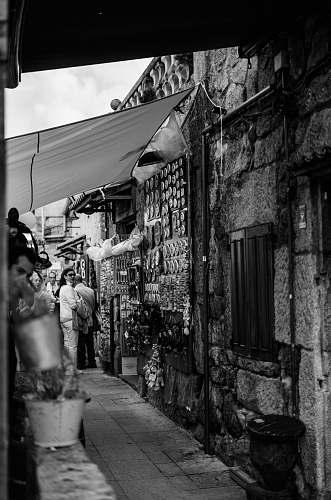 street  black-and-white
