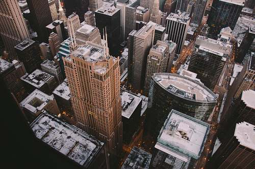 city aerial photography of city skyline during daytime aerial view