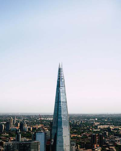 architecture aerial photography of Shard building in Paris spire