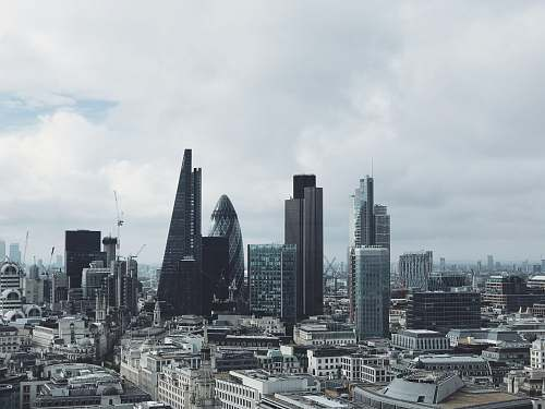 city aerial view of building london