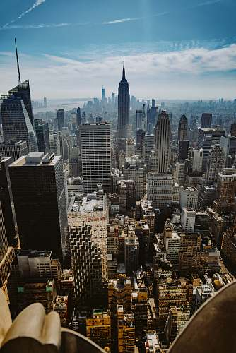 city aerial view photo of urban area top of the rock
