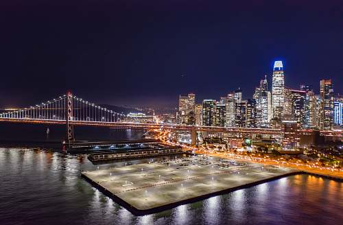 city bridge photograph metropolis
