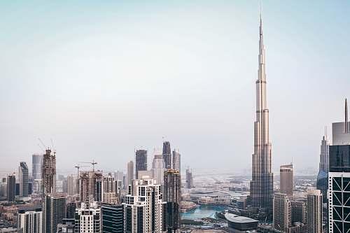 city Burj Khalifa, Dubai architecture