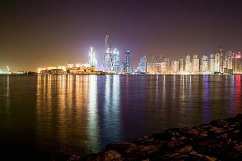 city city skyline at night town