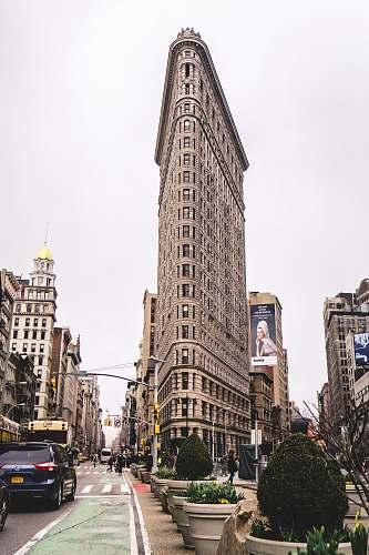 city flatiron building, Newyork architecture