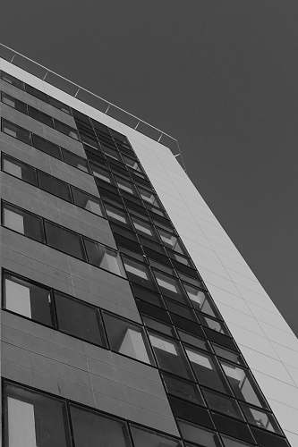 city grayscale photo view of building black-and-white