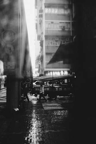 street grayscale photography of people on streets black-and-white