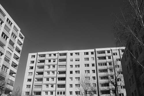city greyscale photo of buildng black-and-white