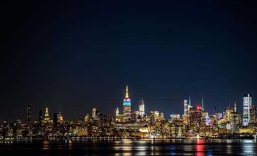 city landscape photo of a city skyline at night metropolis