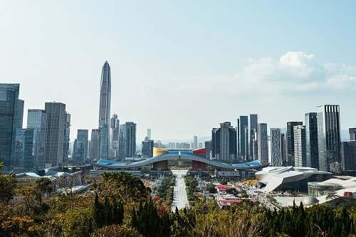 city landscape photo of a city skyline town